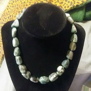 Stauer Green Stone Necklace